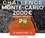 Challenge de tennis de Monte Carlo avec ParionsWeb