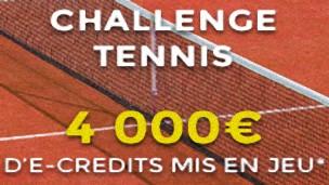 Décrochez le jackpot avec le challenge tennis de parionsweb.fr, 4000 € sont à gagner