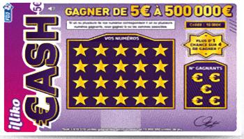 Grattez votre jeu Illiko cash sur fdj.fr et remportez jusqu'à 500 000 euros