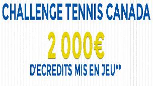 Les masters de tennis du Canada se tiennent du 04 au 10 août et Parionsweb met 2000 € en jeu à cette occasion