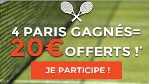 2.000 euros à gagner sur le tournoi de Wimbledon avec ParionsWeb