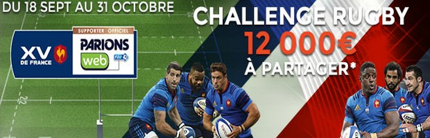 Le Challenge rugby sur ParionsWeb