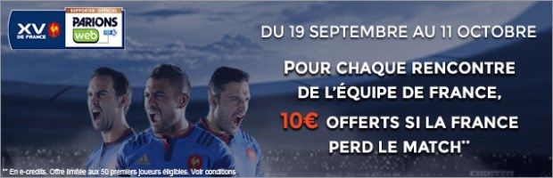 Consolante France Rugby sur ParionsWeb