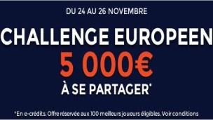 5000 euros à gagner au Challenge Européen