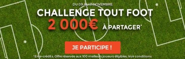 Challenge Tout Foot sur ParionsWeb
