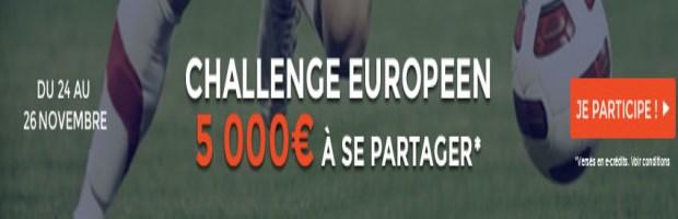 Challenge Européen sur ParionsWeb 5ème journée de LDC et Europa League