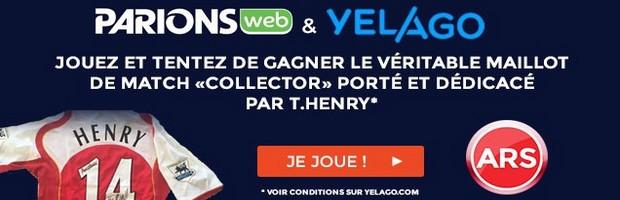 ParionsWeb et Yelago : gagnez le maillot de Henry