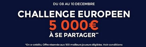 Le Challenge foot européen avec ParionsWeb pour la 6ème journée