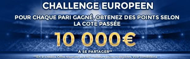 Le Challenge Européen de foot sur ParionsWeb