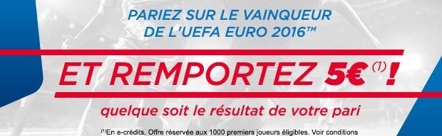 Pronostiquez le vainqueur de l'Euro 2016 avec Parions Sport