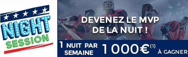2.000€ mis en jeu sur le sport US par ParionsSport