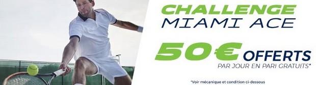 50€ offerts par jour pour le Masters 1000 de Miami sur ParionsSport