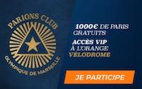 Misez sur l'OM avec le ParionsClub de Parions Sport