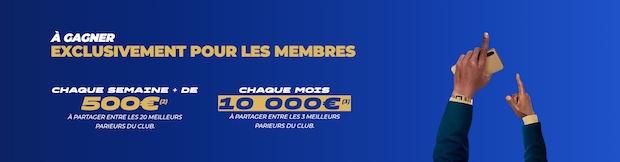 Plus de 12 000€ à partager tous les mois sur ParionsSport