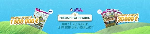 Jusqu'à 1 500 000€ mis en jeu aux jeux FDJ Mission Patrimoine