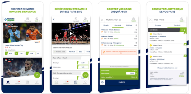 Appli mobile ParionsSport