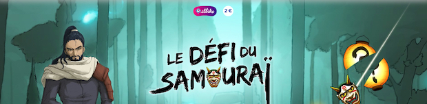 Ticket Illiko Défi du Samouraï de la Française des jeux
