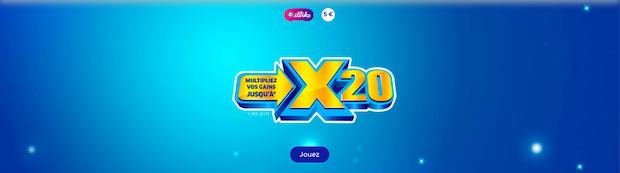 X20 de la Française des Jeux