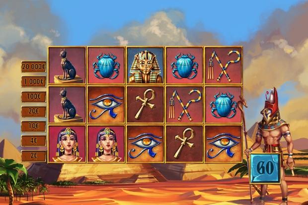 Ecran du jeu Illiko FDJ des Mystères d'Horus